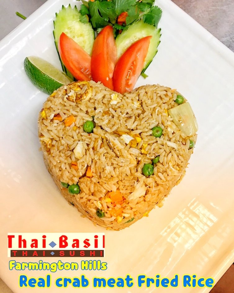 Crabmeat Fried Rice (Real Carb meat)